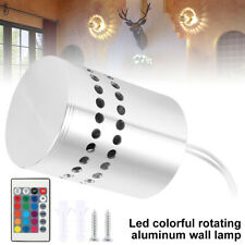 3W LED Wall Light RGB Spiral Sconce Walkway Bedroom Porch Lamp Decor Fixture NEW