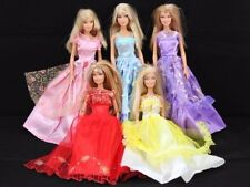 6X Pairs Shoes & 5 Barbie Dresses Clothes gown for dolls Figure Toys Xmas Gift
