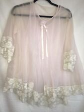 Vintage 2 piece Miss Elaine Nightgown Baby Doll Lingerie Amazing Lace Double