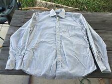 "Tommy Hilfiger Button Down Long Sleeve Light Gray Shirt Size 16-1/2"" 34-35"