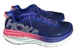 Hoka One One Bondi 5 Athletic Running Walking Shoes Pink Purple Women's 10.5