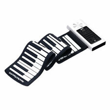 Portable Electronic Keyboard Silicone Rechargeable Roll Up Piano 61Key Bluetooth