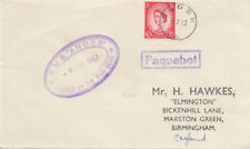 1962 Olden Norway Paquebot cover ~ RMS Andes