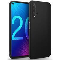 Hülle für Huawei Nova 5T Schutzhülle Handy Hülle Slim Case Weich Matt Schwarz