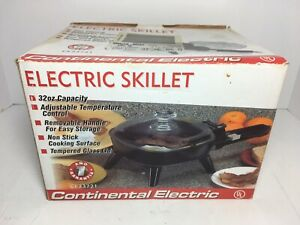 "Vintage CONTINENTAL 6.5"" Electric Non-Stick Skillet Model CE23721"
