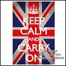 Fridge Fun Refrigerator Magnet UNION JACK KEEP CALM CARRY ON (ENGLAND BRITAIN)