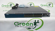Cisco WS-C3560X-24T-L 24-Port Gigabit Ethernet w/ 1x 350W Power Supply READ DESC