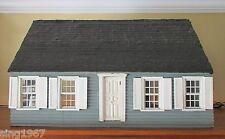 Vintage Handmade Dollhouse Folk Art cottage mid century wood doll antique house
