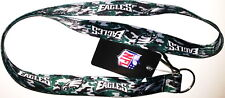 PHILADELPHIA EAGLES LANYARD KEYCHAIN NFL CAMO DOUBLE SIDED WITH CLIP LICENSED