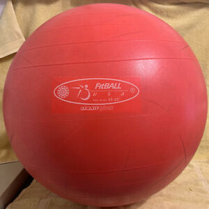 FitBall Red 55cm Stability Balance Ball - Used - Gymnic Plus