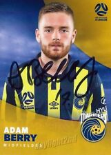 ✺Signed✺ 2017 2018 CENTRAL COAST MARINERS A-League Card ADAM BERRY