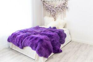 Purple Merino Sheepskin Rug Large Sizes Sheep Skin Sheepskin Throw Teppich
