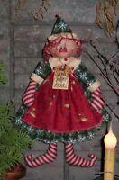 Primitive Patti's Ratties Santa's Helper Anna Elf Doll Paper Pattern #250
