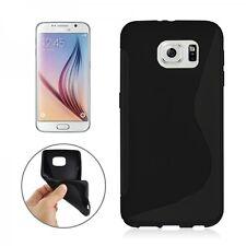 Schutzhülle Cover Kappe Zubehör Schwarz für Samsung Galaxy S6 G920 G920F Silikon