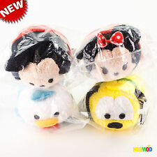 4 Disney Mickey Mouse and Friends Mini Tsum Tsum Plush Minnie Donald Duck Pluto