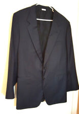 BRIONI Men Blazer Sport Coat Jacket 48/EU 58 R Blue solid 2 btn 100% wool