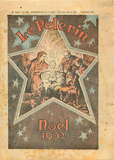 France Noël Jesus Etable Marie Joseph Âne Bethlehem 1932 ILLUSTRATION