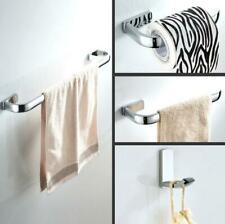 Towel Rack Rail Single Bar Toilet Roll Paper Holder Wall Hook Hanger Brass Set
