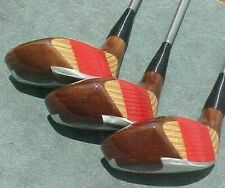OVERSIZE Ping EYE 2 Golf Clubs set Walnut Wood Stain Driver 3 5 New Mint Grips