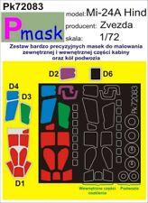 Mil MI-24 una cierva un dosel & Wheels Pintura Máscara Para Zvezda Kit #72083 1/72 pmask