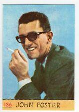 figurina CANTANTI PANINI 1968 REC numero 136 JOHN FOSTER