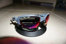 New Oakley Jawbone Sunglasses Bunker Blue Frame Red Iridium Lenses Racing Jacket