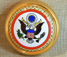 Halcyon Enamel Over Copper Paper Weight, The Great Seal of the U S - Eagle