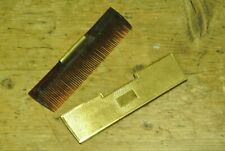Vintage 1950s small handbag comb in metal sheath case, made by Mascot