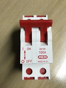 MEM 100 Amp Main Switch Double Pole 2P Isolator