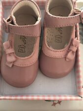 Girls Dusky Pink Patent Leather Dolly Shoes First Size Infant 2