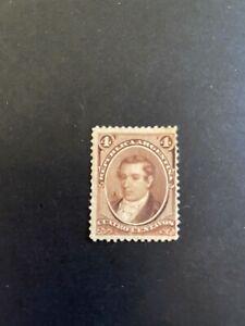 ARGENTINA - 1867/73- 4 ct. - Mariano Moreno- brown  - Y&T 17