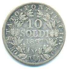 Vatikan, Pius IX., 10 Soldi 1867 R