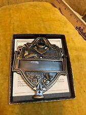 Knight Shield Crest Armor Door Knocker Brass w Box Personalizable Fleur De Lis