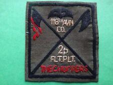 Hand Sewn Patch US 118th AVIATION Company 2nd FLIGHT Platoon From Vietnam War