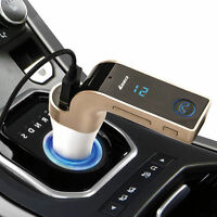 Bluetooth Handsfree Car MP3 FM Transmitter TF USB Charger Kit LCD For iPhone AUX
