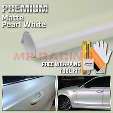 "*24""x60"" Matte Pearl White Pink Sticker Car Decal Vinyl Wrap Bubble Free Film"