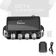 TV ANTENNA Signal Booster Amplifier Splitter HDTV CABLE 4 PORT Audio Video