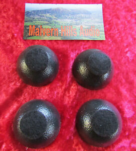 4 x Sorbothane ® 50mm. Diameter Isolation Feet/Spheres with Felt Foot Pad