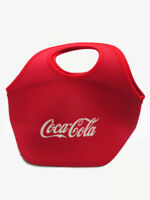 Coca-Cola Zipper Lunch Bag Tote Red with White Logo Insulating Foam