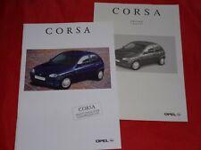 OPEL Corsa B City Eco Swing Joy CDX Sport GSi Prospekt Brochure Preisliste 1996