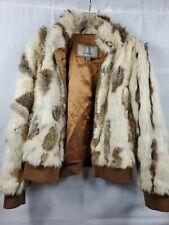 Wilsons Leather Maxima Fur Coat Jacket Vintage Wm XL.     B1