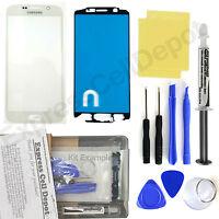 For White Samsung Galaxy S6 G920 Front Glass Screen Replacement Repair Kit