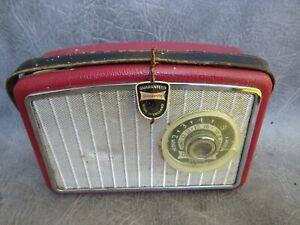 A WORKING DANSETTE GEM PORTBALE TRANSISTOR RADIO c1960 *BATTERY CONVERSION*
