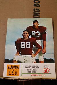 Nov 5 1966 Alabama Vs. LSU Football Game Program University Paul Bear Bryant