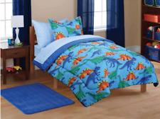 New 5 Piece Twin Size Comforter Set Boy's Kids Sheets Bedding Dinosaur Bedspread
