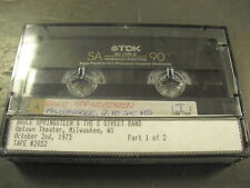 Bruce Springsteen Uptown Theater Milwaukee WI 10-2-75 1975 Live Cassette Tape