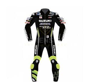 Andrea Iannone Suzuki Ecstar MotoGP 2017 Leather Suit Racing Leather Suit