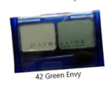 MAYBELLINE EXPERTWEAR DUO EYESHADOW SHADE 42 GREEN ENVY NEW