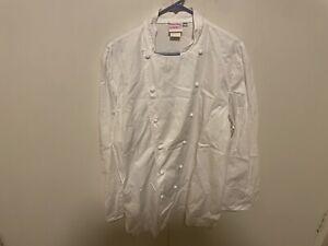 Bragard Alfredo Long Sleeve Kitchen Chef Jacket - White - Sizes -f60-d 58 -48US