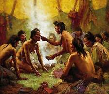 Howard Terpning BLESSING FROM MEDICINE MAN Textured Canvas, Native American #689